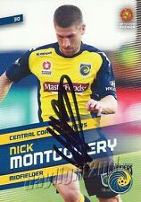 ✺Signed✺ 2013 2014 CENTRAL COAST MARINERS A-League Card NICK MONTGOMERY