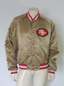 Vintage San Francisco 49ERS Gold CHALK LINE Jacket USA Made Size XXL