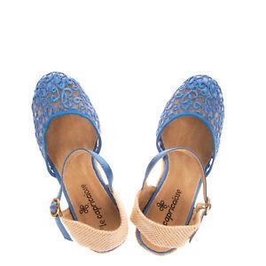 RRP €120 LE CAPRICCIOSE Lattice Slingback Espadrille Shoes EU 37 UK 4 US 7 Wedge