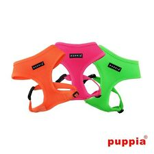 NEW FOR 2015, PUPPIA SOFT NEON ORANGE, PINK, GREEN FLUORESCENT DOG PUPPY HARNESS