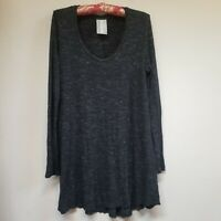 Anthropologie Dolan Women's Long Sleeve Tunic Top. Black Medium Cotton Sweater.