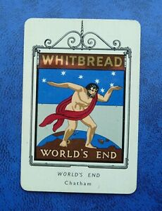 Whitbread Inn Signs Second Series Aluminium  No 12  THE WORLDS END