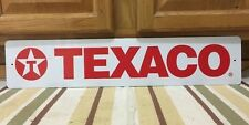 TEXACO Gas Large Metal Petroleum Motor Oil Gas Pump Vintage Style Star Wall