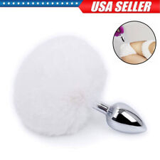 Metal Fake Fur Rabbit Tail Anal-Butt Plug Funny Toys Women Adult Games Cosplay
