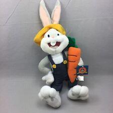 Nanco Looney Tunes Bugs Bunny Farmer Carrot 2002 Plush Stuffed Animal Toy
