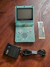 Nintendo Game Boy Advance SP AGS 001 - Clear Green Glow and the Dark