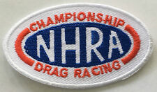 DRAG RACING --  embroidered cloth patch    D040602