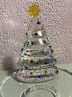 PartyLite+P9086+Sparkle+Lite+Crystal-Christmas+Tree+Tealight+Holder+New