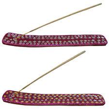 Portaincenso set 2 pezzi barchetta rosa oro specchietti e brillantini