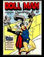 Doll Man Quarterly #10: Golden Age Comics First Superhero With Shrinking Power