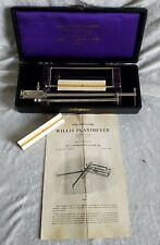 ANTIQUE 115 YR OLD IMPROVED WILLIS PLANIMETER BY JAMES L ROBERTSON & SONS 1901