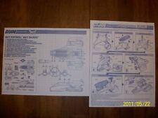 G.I. Joe Cobra Sky Patrol Havoc, Shark & Sky Hawk Instruction Blueprint Lot !