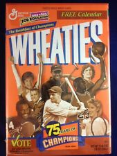Wheaties Box Unopened 1999 75 Years Of Champions W/Calender Factory Sealed.!!