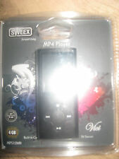 NEW MP 4 PLAYER SWEEX MP4 PLAYER 4 GB DIGITAL MEDIA PLAYER BLACK MP51OWH CAMERA