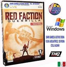 RED FACTION GUERRILLA PC GIOCO NUOVO ITALIANO WINDOWS