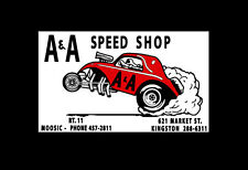 A & A SPEED SHOP  1960'S DRAG RACE HOT RAT ROD DECAL VINTAGE LOOK STICKER