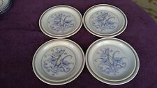 Set of 4 Royal Doulton Inspiration Salad Plates Lambethware Blue England 8.5""