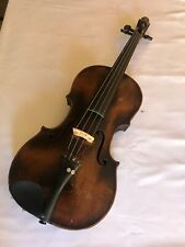 "Mittenwald Lion Head Violin Full Size 23.5"" Beginning 19th Century"