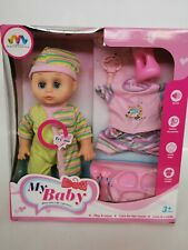 My first baby born doll with clothes and accessories crying / talking function