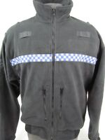 Ex UK Police Officer Genuine Polartec Uniform Checker Trim Patrol Fleece I3/X8