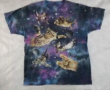 Flying Lazer Cat Galaxy Graphic Size XL animal t shirt tee Tye Die