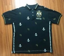 COOGI Polo Shirt Short Sleeve Mens 2XL XXL Black Embroidered Collar