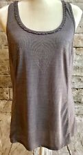 Lululemon Tank In A Cinch Size 8 Gray Space Dyed EUC