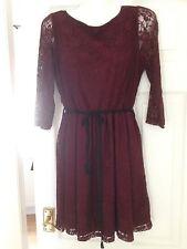 Size 10 Burgundy Lace Dress