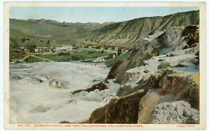 Postcard - Yellowstone National Park, Mammoth Hotel & Ft. Yellowstone, by Haynes