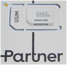Israel Prepaid Orange Partner Sim Card Triple Size Sim active without credit