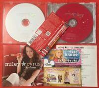 Miley Cyrus Breakout JAPAN CD+DVD with OBI 4 Bonus Track Platinum Edition