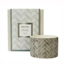 Fired Earth Design Large Ceramic Candle Earl Grey & Vetivert by Wax Lyrical