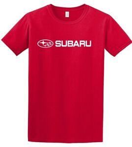 Subaru Basic Tee Shirt Impreza Sti T shirt Official Genuine WRX NEW Red Racing