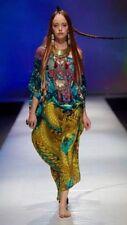 new CAMILLA FRANKS SILK SWAROVSKI THE UNSEEN WORLD ROUND NECK KAFTAN DRESS