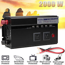 2000W(4000W Peak)Camper Power Inverter DC 12V AC 110V Camping Converetr Invertor