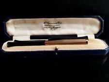 More details for vintage art deco 9ct gold cigarette holder, boxed, 1920s