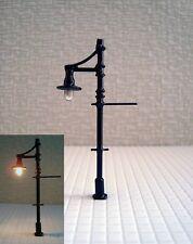 S144 - Set 10 Stück Lampen Straßenlampen nostalgisch 1-flammig 5,5cm Parkleuchte