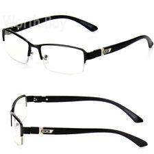 Men Women Clear Lens Half Rim Fashion Frame Eye Glasses Designer RX Nerd Eyewear