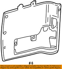 FORD OEM E-350 Econoline Club Wagon SIDE PANEL-Rear Quarter Trim F6UZ1631112AAA