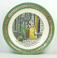 Adams - CRIES OF LONDON - BOWL - NARROW GREEN TRIM WITH LEDA BORDER