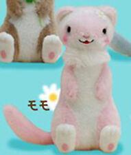 Gokigen Ferret 4'' Pink and White Plush Key Chain Anime Manga NEW