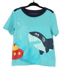 """Carter's 24M Boy's Blue Graphic """"Shark"""" T Shirt"""