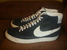 NIKE BLAZER HIGH VINTAGE SIZE UK 4 BLUE LEATHER SUEDE EUR 36.5 TRAINERS