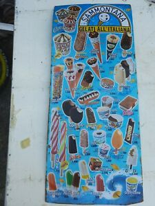 Tabella gelati vintage Sammontana Anni 90  rara Collezione 1999 no eldorado