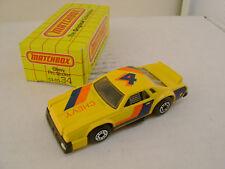 1983 MATCHBOX SUPERFAST #34 YELLOW CHEVY PRO STOCKER NEW IN BOX