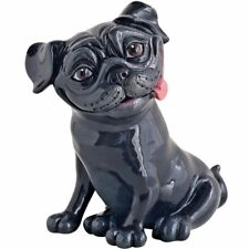 Arora Little Paws Pete Black Pug Figurine Ornament Funny Dog Lovers Gift
