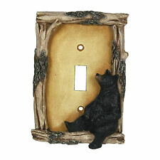 River's Edge Products Climbing Black Bear Single Light Switch Plate Cover