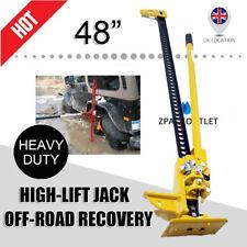 "Yellow Farm Jack 48"" High Hi Lift Jack 4X4 Vehicle Recovery Off Road Heavy Dtuy"