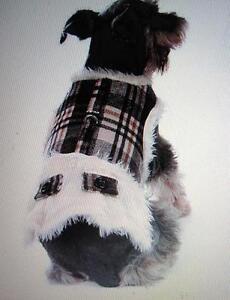 Hunde Softgeschirr Winter Weste kariert warm Fell Brustgeschirr Wedel shop