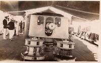 Vintage Ship Real Photo USS Sacramento Focsle 1920's 3x5